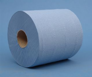 C/Feed Wipe Roll 2ply Blue 6x150m